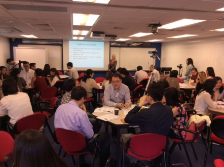 Faculty from all over Southeast Asia reflecting on critical reflection, Hong Kong Polytechnic