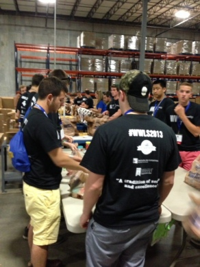 Service-learning activity with Phi Kappa Psi leadership institute