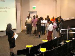Interactive workshop at Alabama State University.