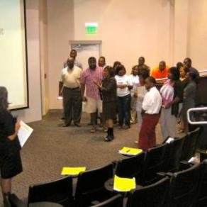 Interactive workshop at Alabama State University.