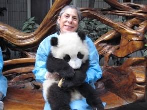 With Zha Zha, Chengdu, Sichuan Province, China
