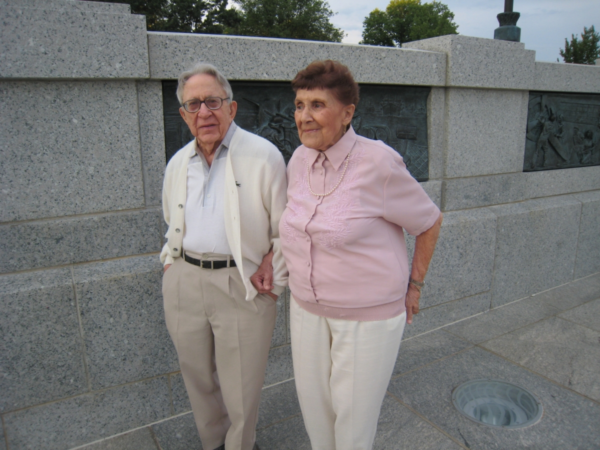 Mom and Dad at the World War II Memorial, Washington, DC